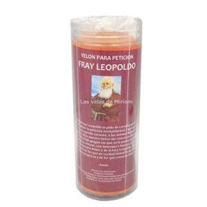 Velón de oración con aceite Fray Leopoldo