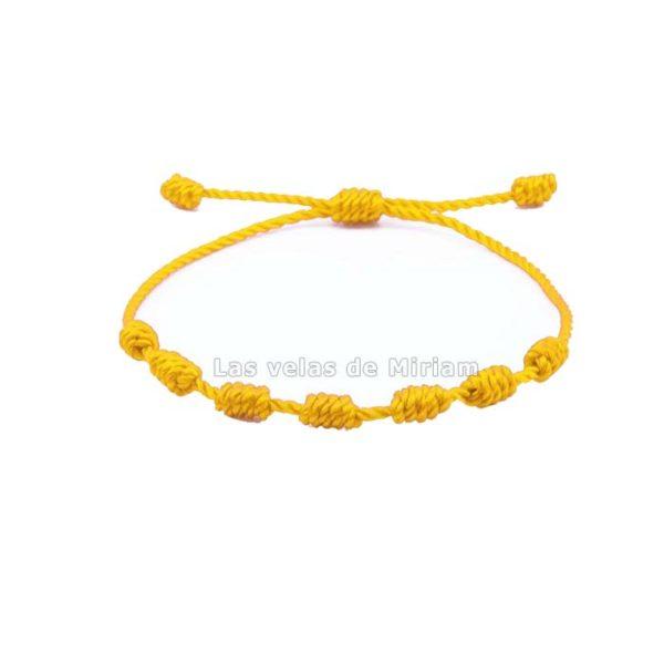 Pulsera 7 nudos amarillos