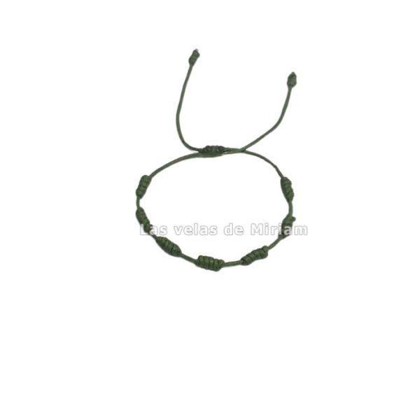 Pulsera 7 nudos verde