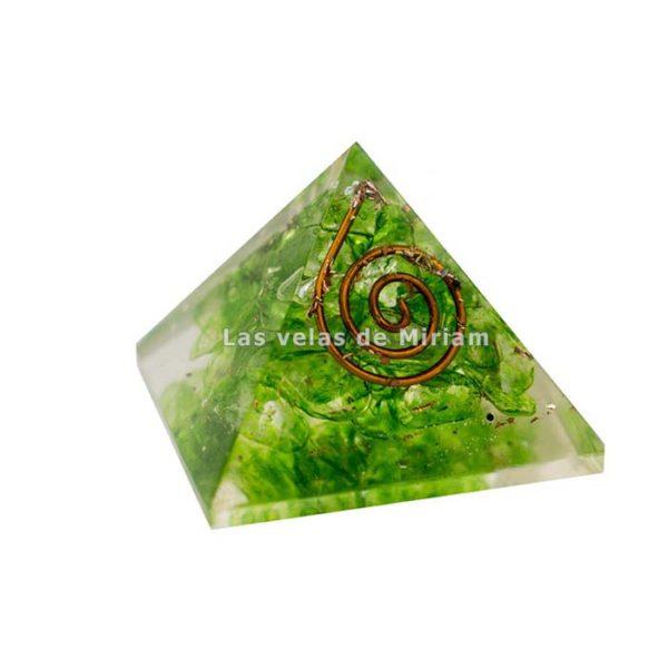 Mini pirámide orgonita aventurina verde