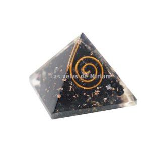 Mini pirámide orgonita turmalina