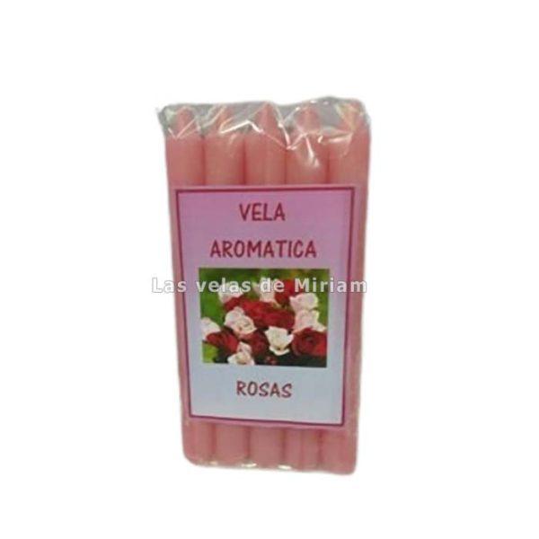 Vela aromática rosas