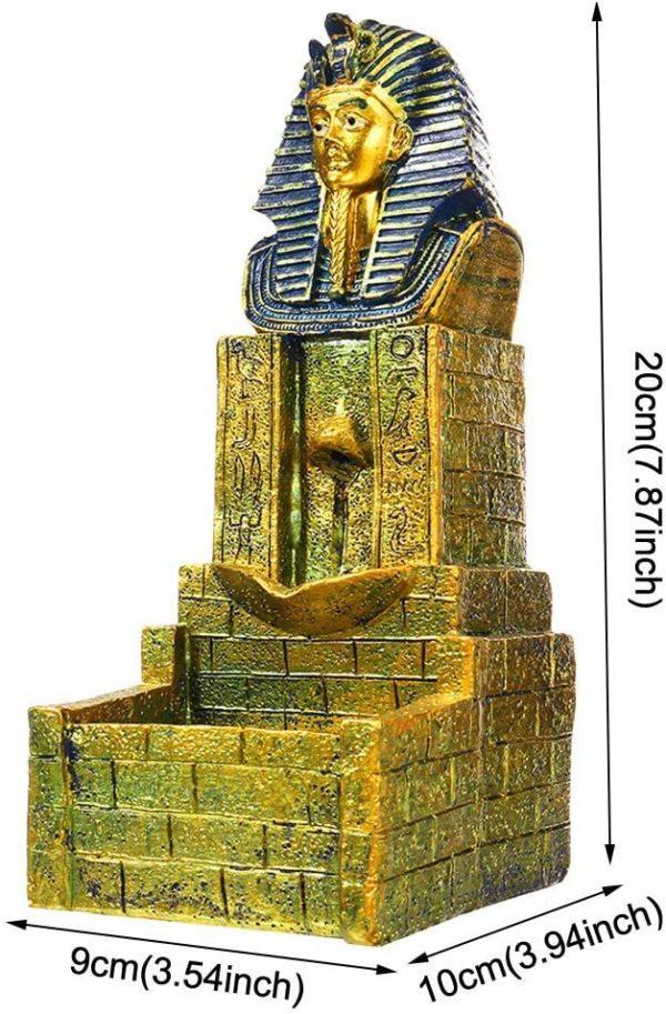 Quemador de Incienso Faraón Egipcio Rey Seráfico