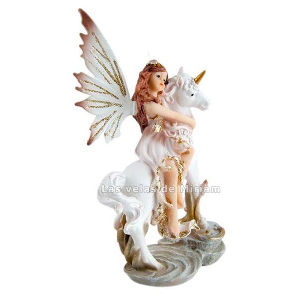 Figura de Hada con unicornio