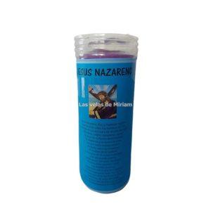 Velón de oración con aceite Jesus Nazareno