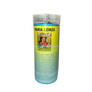 Velón de oración con aceite Maria Lionza