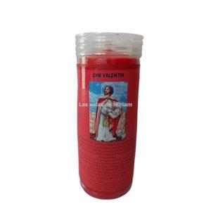 Velón de oración con aceite San Valentín