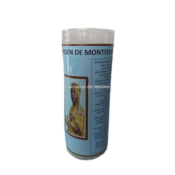 Velón de oración con aceite Virgen de Montserrat